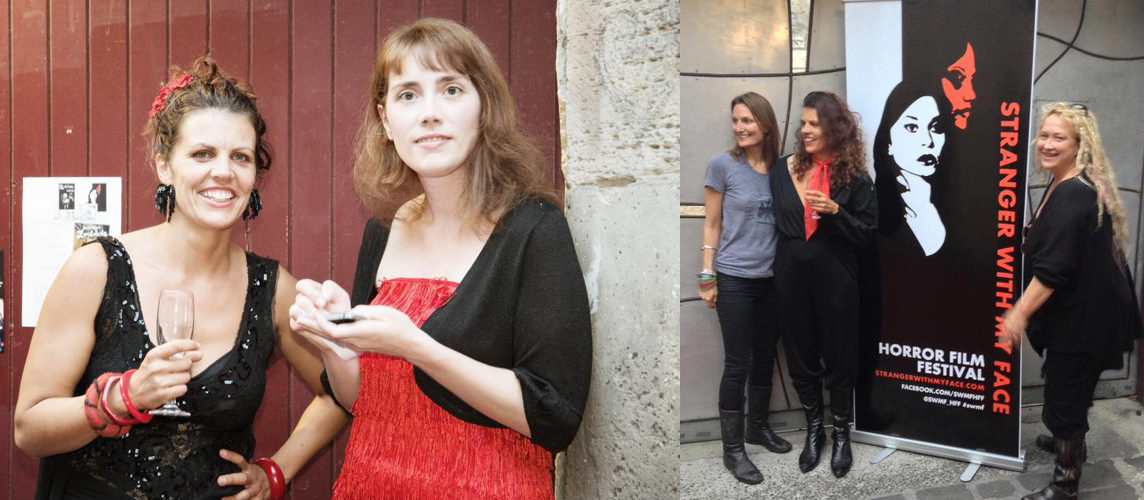 Left: SWMF Founders Rebecca Thomson and Briony Kidd | Right: Penny Vozniak, Rebecca Thomson and Jennifer Lynch at SWMF 2013